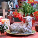 Gebackenes Rührteig Osterschaferl – vegetarisch