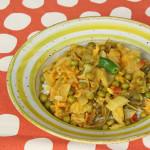 Indisches Kraut Kartoffel Erbsen Gemüse – Aloo Bandh