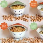 Hummus Varianten: Curry-, Tomaten- Thymian & Sardellen