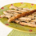 Pizzastangen mit Knoblauch Olivenöl