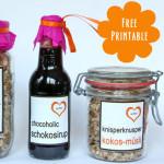 Free Printable – Etiketten für diverse Köstlichkeiten aus der Küche