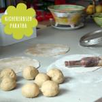Kichererbsen (oder Linsen Dhal) Parathas (Fladen) – Indien