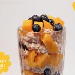 Amaranth Joghurt Pop mit Mangos & Heidelbeeren *vegan*
