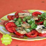 Vegane Caprese – Tomaten mit Tofu