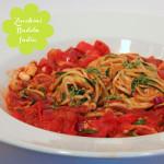Zucchini Pasta Indian Style ala *ups* – #challengetauglich #vegan
