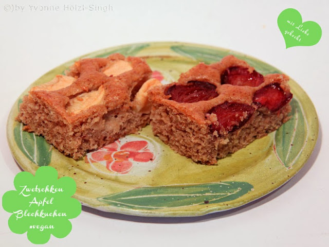 Obst Blechkuchen Mit Zwetschgen Und Apfel Freude Am Kochen