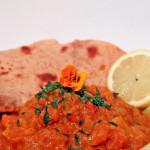 Indisches Kürbis Kartoffel Curry mit Chapati