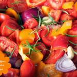Gebackene Tomaten Paprika Suppe