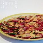 Rote Rüben (Bete) Zucchini Carpaccio mit Walnussöl-Dressing