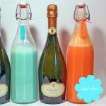 Kokos-Ananas-Blue Curacao-Aperitif und Pfirsich-Grenadine-Prosecco