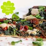 Bärlauch- Dinkel Pizza mit Cashew-Mozzarella