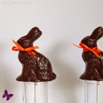 Dunkle Lavendel Schokolade Osterhasen – vegan