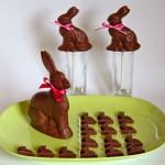 Fast wie Vollmilch-Schokolade Osterhasen – vegan