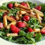 Spargel Erdbeer Ruccola Salat #vegan
