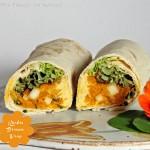 Kürbis Birnen Wrap mit Hummus