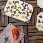 DIY – Blätter Schmetterling  stanzen