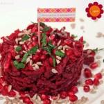 Orientalischer Roter Rüben Salat mit Granatapfel Kernen