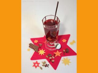 Schwarztee Orangen Rotwein Punsch