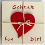"""Valentinstag DIY: """"Schenk ich Dir"""" Herz-Bild"""