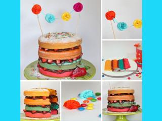Faschings Torte Nakedcake vegan