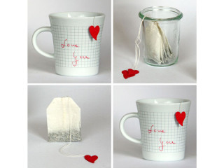 Herz Teebeutel DIY Valentinstag