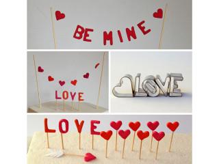 Tortendeko Valentinstag DIY