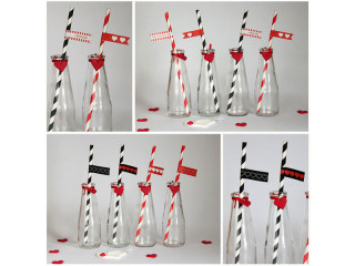 Valentinstag Strohhalm DIY