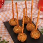 """Vegane Tomaten Frischkäse Soletti Pops – """"Cakepops"""""""