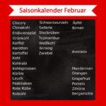 Saisonkalender Februar – Was hat im Februar Saison?