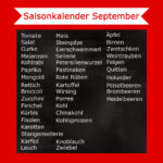 September Saisonkalender – Was hat im September Saison
