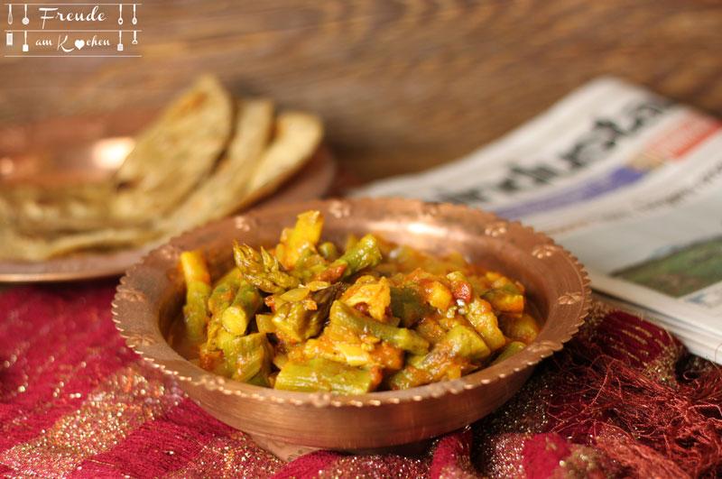 Indischer Paneer mit Spargel - vegetarisch - Freude am Kochen