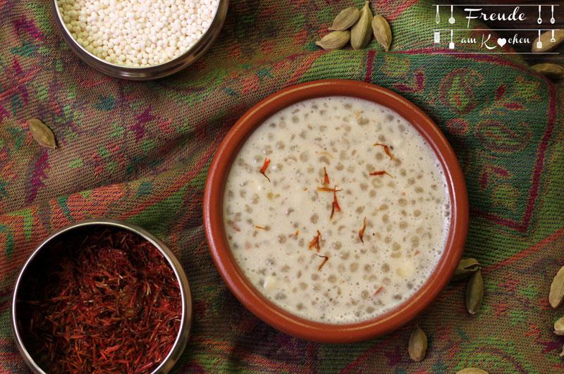 Indischer Sago Pudding - Sabudana Kheer - Freude am Kochen vegan