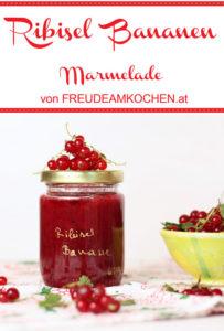 Ribisel Bananen Marmelade - Freude am Kochen vegan