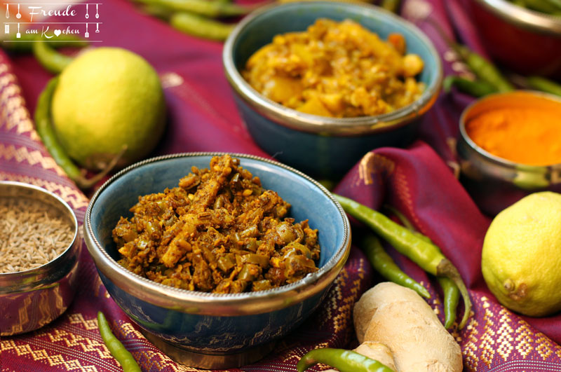 Indische Zitronen Ingwer Chili Pickles - Freude am Kochen vegan