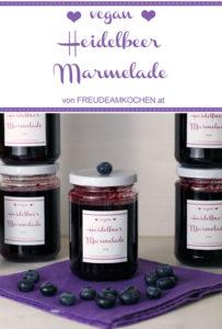 Heidelbeer Marmelade - Blaubeer Konfitüre - Freude am Kochen vegan