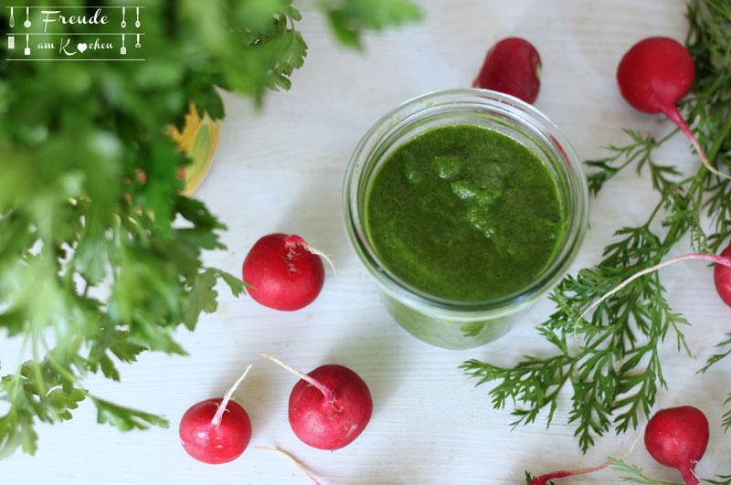 Radieschenblätter Sauce - Hari Chuntney mal anders - Freude am Kochen vegan