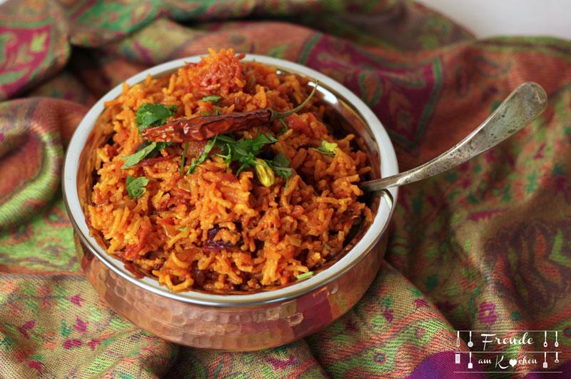 Rote Rüben Reis Indisch - Rote Bete Pulao - Freude am Kochen vegan