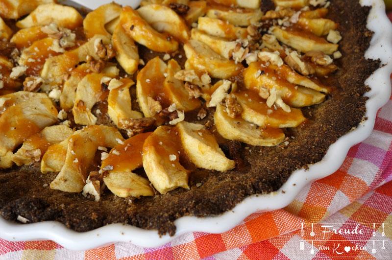 Apfeltarte vegan & glutenfrei - Apfelkuchen vegan & glutenfrei - Freude am Kochen