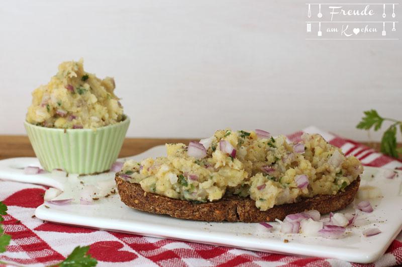 Schneller Erdäpfelkas aus Kartoffelpüree - Freude am Kochen vegan