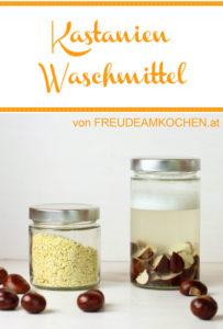 Kastanien Waschmittel - Ökowaschmittel selbermachen - Freude am Kochen vegan