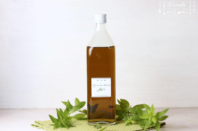 Zitronenverbenen Likör - Verveine Liqueur - Freude am Kochen vegan