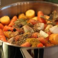 Fastensuppe - Ausgekochte Gemüsebrühe zum Fasten