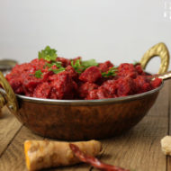 Rote Rüben Korma - Indisches Rote Bete Curry