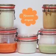 5 verschiedene vegane Saucen für heißen Stein, Fondue etc
